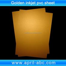 A4 Golden inkjet printable pvc plastic sheet
