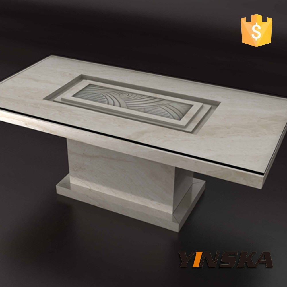 Handmade custom design rectangle quartz dining table top for Quartz top dining table