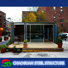 Movable good quality low cost shipping container house with wheels for sale