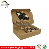 Corrugated Wine Bottle Carton Box 6 Bottle Wine bottle gift box