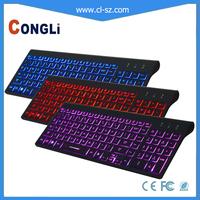 2015 New LED Illuminated Gaming Ergonomic Keyboard USB Multimedia Backlight Backlit Ultra-thin Keyboard