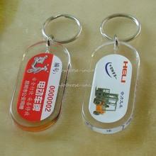 Custom Logo Support Blank acrylic keychain