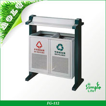 Outdoor recycle waste bin