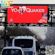 LCF China P10 outdoor full color trafic information video panel advertising led display