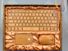 Customzied Wooden/Bamboo Bluetooth Wireless laptop Keyboard for iPad Tablet