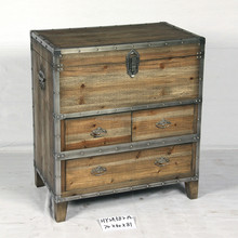 reclaimed wood antique painted chest