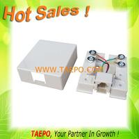 single port rj11 surface mount box