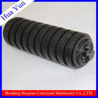 rubber coating conveyor roller for sand belt conveyor system