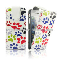 "2013 New arrivel for iPhone 5"" colorful print leather case"