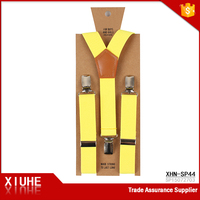 Hot China Children's Yellow Solid Color Custom Suspender