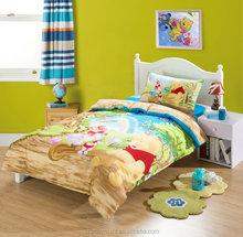 HIgh quality 4pcs lovely bear printed bed sheet set, 3D printed bedsheet
