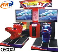 Arcade coin operated moto bike racing game, adults simulation bike racing machine