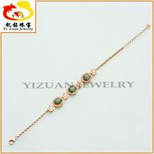 Directo de fábrica 925 de plata jade natural pulsera de piedra de la joyería