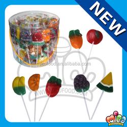Colourful Fruit Shaped Lollipop
