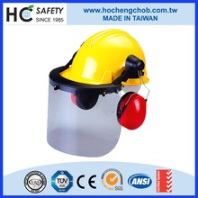 K-H101 ANSI and CE types of safet helmet and earmuff manufacture