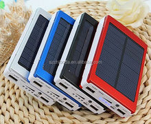 OEM High Capacity 30000mah Dual Usb Portable Solar Panel Power Bank 30000mah Battery Charger