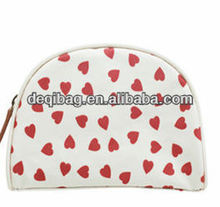 Sweety Heart Printing cotton cosmetic case, cotton toiletry bag case
