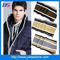 hot sales high quality tassel design winter warm men striped knit scarf WJ-684