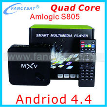 MXV S805 Andriod TV Box Quad Core Amlogic S805 1G/8G 4K Bluetooth4.0 Fully-Loaded MXV S805 Quad Core XBMC Android4.4 TV Box