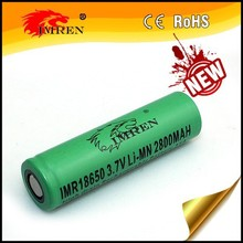 High quality IMREN IMR 18650 2800mAh 35A 3.7V 18650 rechargeable battery with flat top for vaping mods/flashlight/e-bike