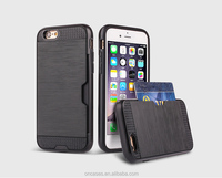 Newest Brushed Tough Armor Spigen Sgp case for iphone 6 6s 4.7inch mobile phone with credit card