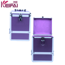Women Fashion 2 Layers Hardshell Purple Plain Wholesale Jewelry Boxes