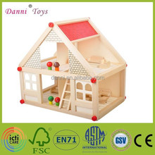 Wholesale Villa Model DIY Wooden Toy House Multifunctional Educational Wooden Magnetic Puzzle Toys for Childr