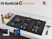 the top quality gas stove with glass top