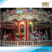 Popular in China cheap amusement park equipment electric carousel musical carousel
