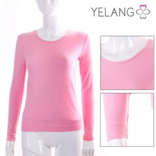 2015 fashion young women girl pink thermal underwear
