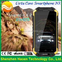 Rugged Waterproof Android Smart phone MTK 6592 1.7GHz processor 4.7 inch 3800mah battery long standby phone