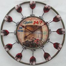 Bar unusual metal art wall clock exporter