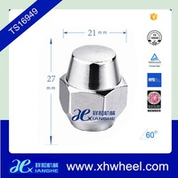 Low Crown Polished Stainless Steel Acorn Nuts