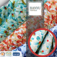 proviscose twill colorful print fabric