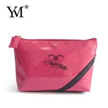 2015 logo personnalisé lady mode PVC sac cosmétique promotionnel
