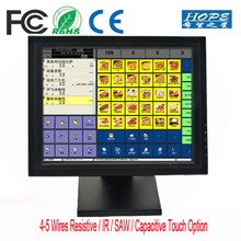 5 Wire Resistive Touch Screen Monitor 15 inch POS TFT LCD