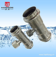 Water fire fighting pipe fitting tee