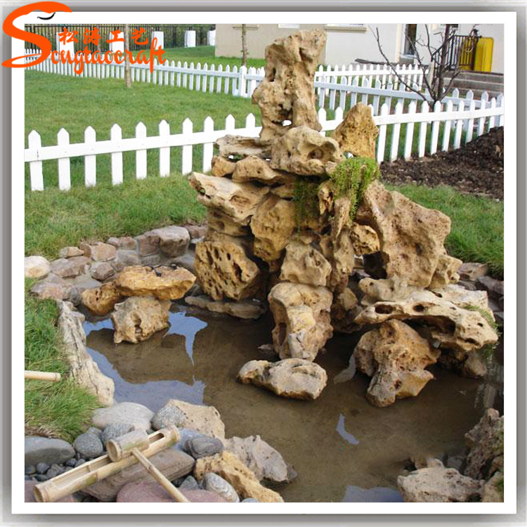 Distinctive designs artificial fiberglass landscape rocks ornamental rocks  fountains for garden decor. 20.jpg - Distinctive Designs Artificial Fiberglass Landscape Rocks Ornamental