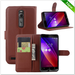 Factory price flip leather case for asus zenfone 2 case