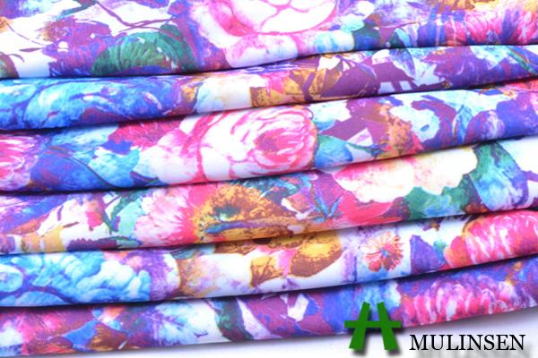 Mulinsen Textile 2015 numérique imprimé tricot Polyester FDY Spandex tissu imprimé