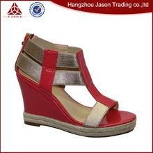 Venta caliente barato nupcial de lujo sandalias