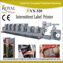 huge discount high speed intermittent offset label printing machine RYZX-320