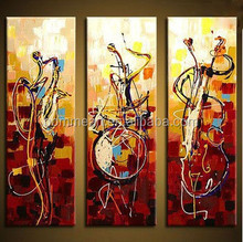 Hand painted wall art Abstrac Home decoration play instruments Oil Painting on canvas