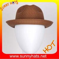 Fancy hot sale PP braid snap brim hats for summer against the sun