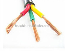 1.5mm 2.5mm 4mm 6mm copper conductor pvc insulated electric cable