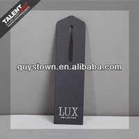 custom private design special shape printed paper hangtag for garment
