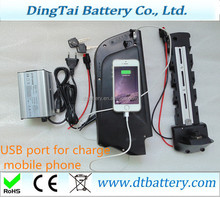 with 5V USB port bottle e-bike battery 36v 12Ah e-bike battery Samsung cells with USB port for 350W motor