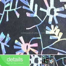 2015 hot sell transparent sequin embroidery sequin fabric manufacturer 5mm transparent sequin fabric