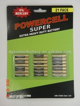 High quality powercell AAA R03 1.5V Primary dry Batteries