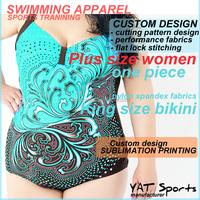 Custom design sublimation printing pattern bra padded big bikini women Plus size swim suit Bikini